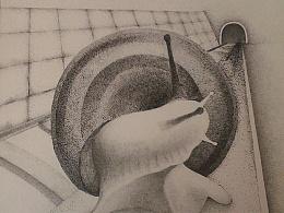 针管笔画:蜗牛