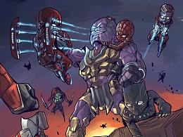 《复仇者联盟》同人创作流程。