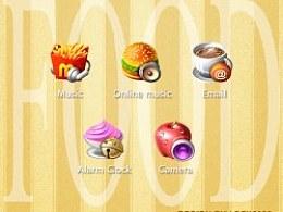 5个食物图标