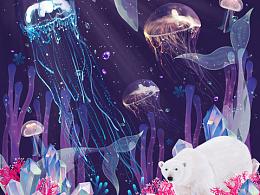海洋系列包裝插畫