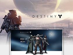 Destiny网页,做得简单点,心也就简单点