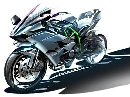 摩托车手绘/邦陈设计