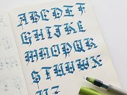 機械感的手寫歌德字體