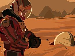 《火星救援》电影截图练习