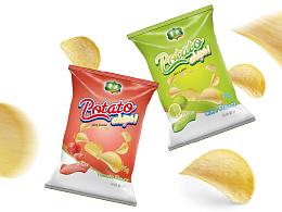 薯花 薯片包装视觉设计