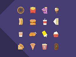 扁平食物图标