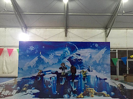 北京龙湾国际露营公园-大型冰雪乐活节3D墙地画