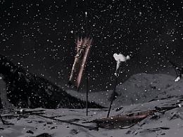 雪山战场-数字绘景