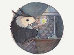 绘本创作《偷吃光的小怪兽》