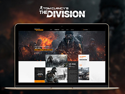 Web Design of The Division by 动不动就饿
