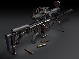 巴雷特M98B狙击步枪(ps、鼠标、 数位板绘制)