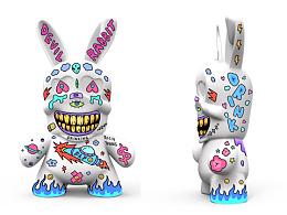 用自己的画风涂鸦了三款DevilRabbit模型