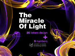 35天计划#光线科幻字体设计——The Miracle Of Light