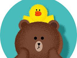一只酥松的布朗熊