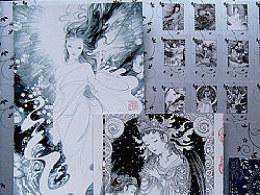 二次印刷,限量盒装卡片《十六夜的雪》商业插画
