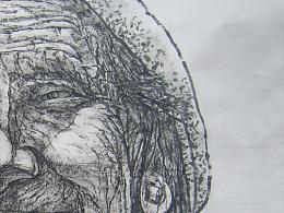 西藏老人- 纸本水墨