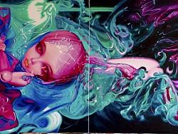 《妖姬图》180CM×60CM 布面油画 2014