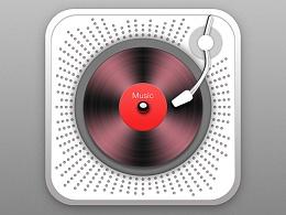 超写实音乐碟机图标