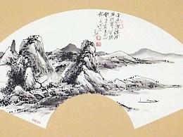 【镜片山水】李家兴国画作品欣赏