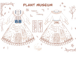 Lolita 柄图-植物博物馆