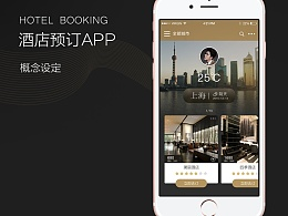 一款酒店预订的app视觉设定