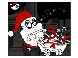 圣诞老人人物漫画插画