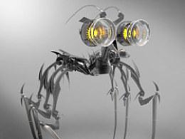 去年年底完成的一个小机器人,变形金刚里面一个不起眼的小角色。。。