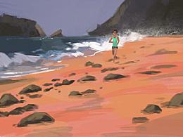 《当我谈论跑步时,我在谈什么》书籍插画