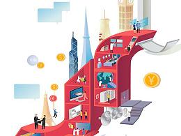 今日金融-app-插画设计