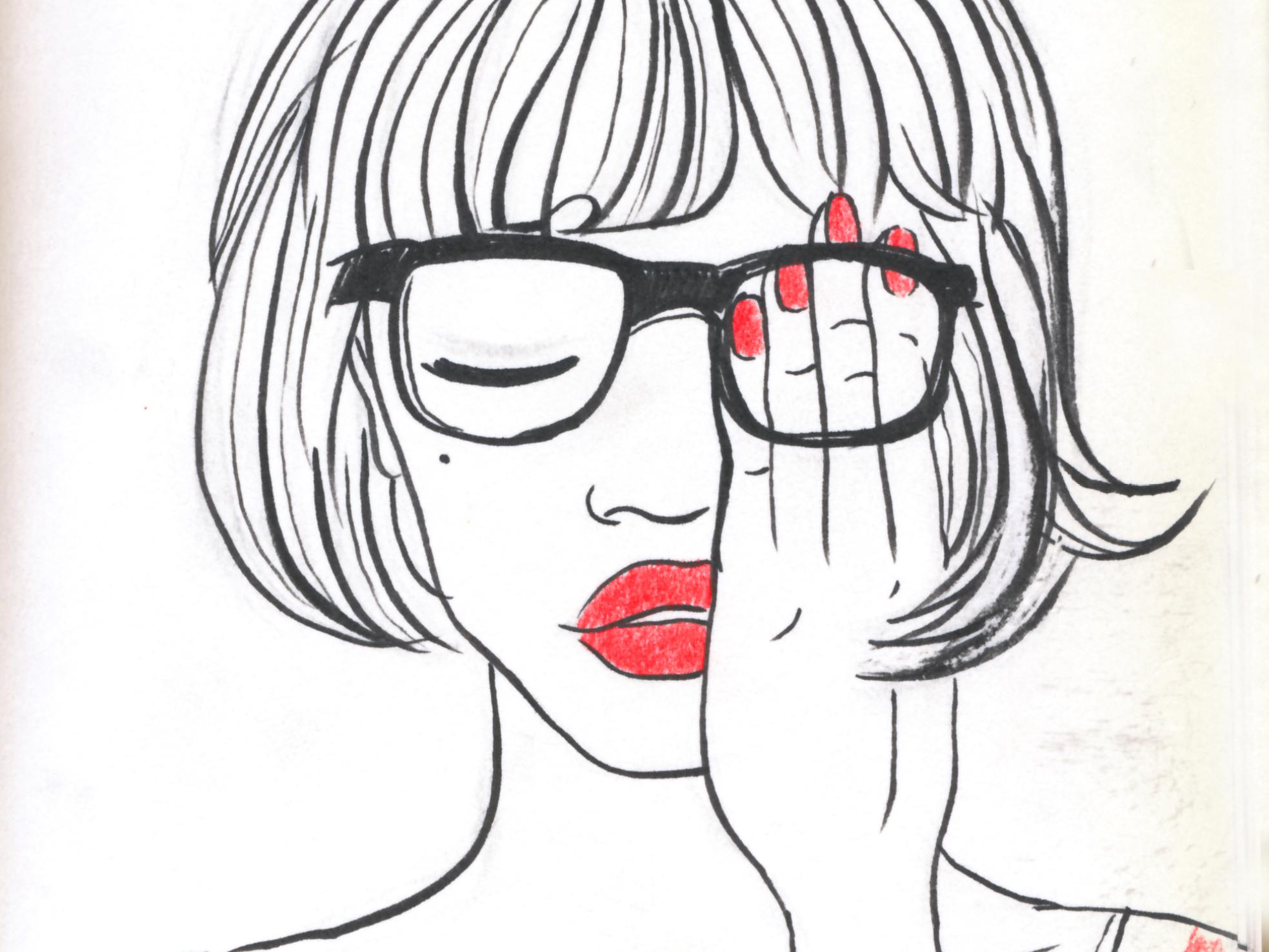 明星肖像漫画插画