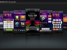 几年前的手机UI界面创意练习-炫彩