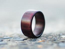 石思庆手工艺品-----檀木戒指