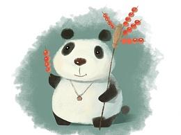 板绘大熊猫