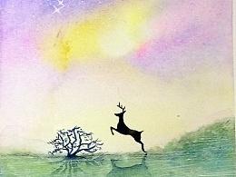 林深处遇鹿,梦醒时见你