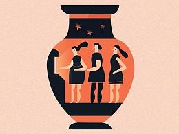 希腊悲剧—插画练习
