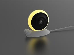 智能家居360度全景小夜灯监控摄像头