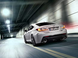 CGI Automotive photography -Lexus RC F