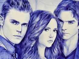 圆珠笔画<The Vampire Diaries>