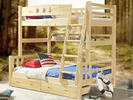 生于野 安于室 实木子母床 双层床详情页 松木床详情