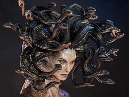 ECC 震撼原创 神话系列 美杜莎 Medusa等比例胸像