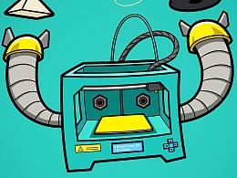 插画 - 我的3D打印机 / My 3D Printer