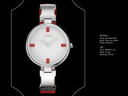 方钻女款手表设计