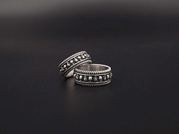 一周年纪念款骷髅指环