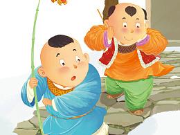 给一本儿童教辅杂志画的一月封面。