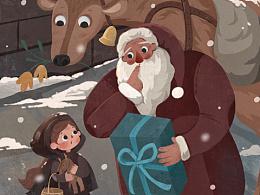 当卖火柴的小女孩遇到圣诞老人