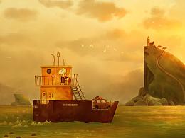 法师新作品-《海洋之歌夕阳》