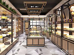 黑龙江爱焙克面包店装修设计