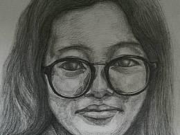 个人素描作品—旁边的女生