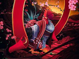 """2017丁酉年-""""一鸣惊人""""鸡年手机壳主题插画制作/武减武 x 二川井联合制作"""