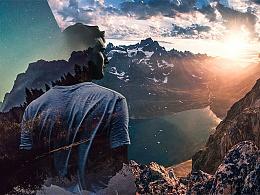 海报三部曲-双重曝光的世界